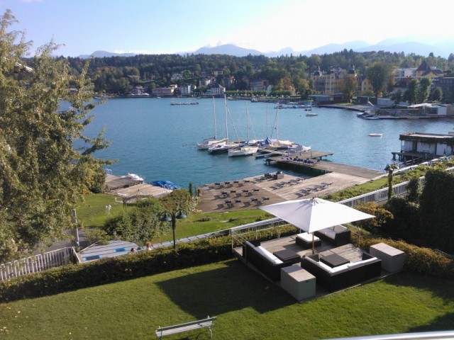 Wonderful lakeside views from Hotel Hubertushof
