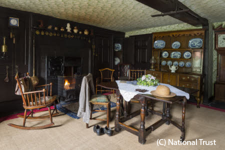 The Entrance Hall at Hill Top, Cumbria, home of Beatrix Potter. This was the heart of the home - Lakeland farmers referred to it as the firehouse or houseplace. Beatrix called it the Entrance Hall, clearly exposing her middle-class roots.