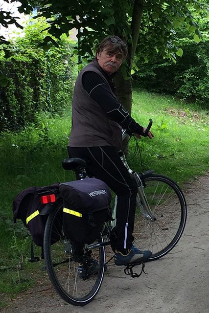 Brittany rep on bike
