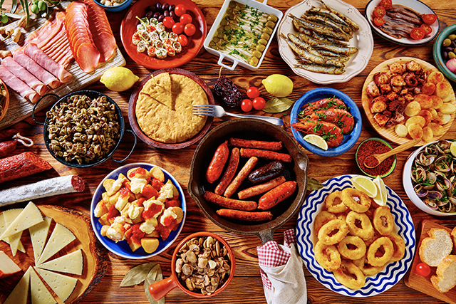Tapas from Spain mix of most popular, photo: Luna Marina / Adobe Stock.