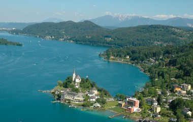 Beautiful view over an Austrian Lake.