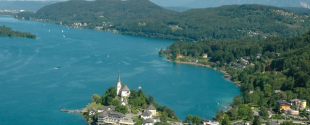 Beautiful view over an Austrian Lake.