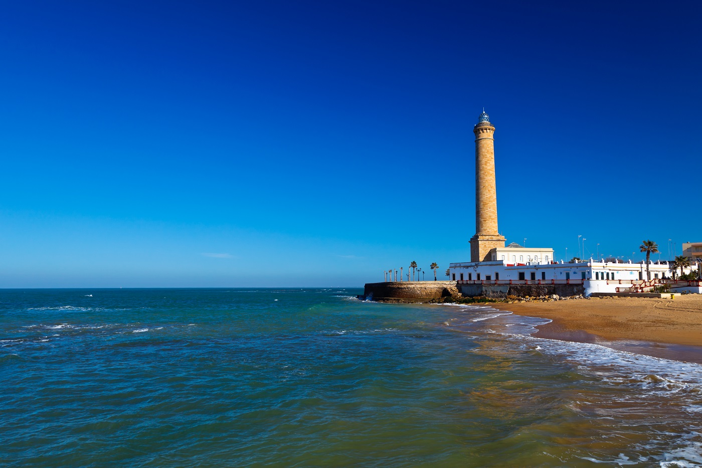 Wonderful lighthouse known as  lighthouse of Chipiona at the province of Cádiz