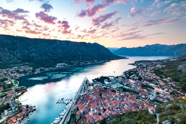 The sweeping views over the old town and bay from Kotor fortress