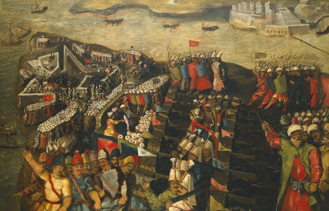 An illustration showing the 1565 Siege of Malta: Wikipedia CC