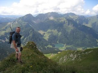 Stumpy on the High Alps Walk