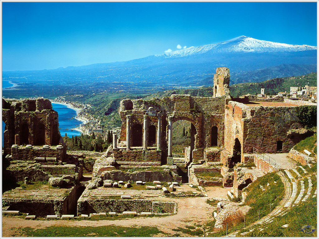 The town of Taormina in Sicily - perfect walking country