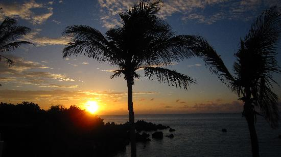 Beautiful sunset at the Coco Reef Hotel