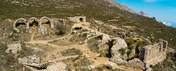 Fort Bernia, Sierra de Bernia, Mountain near Altea, Calp, Spain.