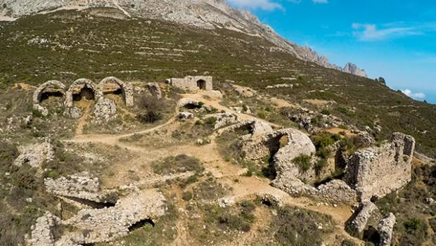 Fort Bernia, Sierra de Bernia, Mountain near Altea, Calp, Spain.