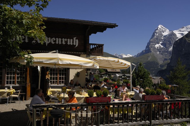 Hotel Alpenruh offers stunning mountain views