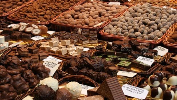 Chocolate stand at Eurochocolate 2017. Photo: Bella Umbria