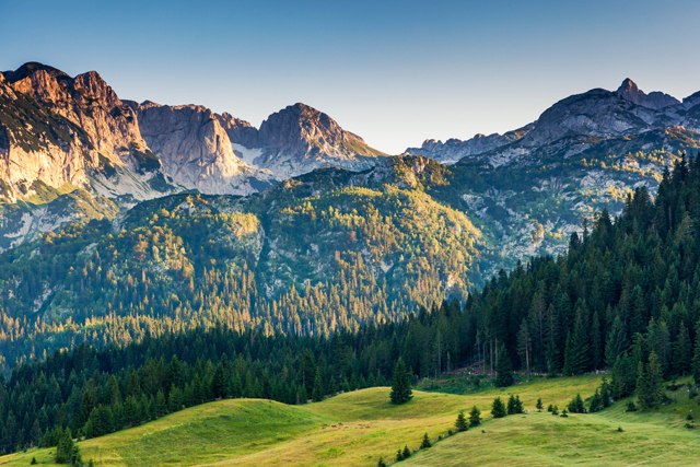 Wonderful view to mountains in the national park Durmitor in Montenegro, Balkans. Photo: Creative Travel Projects.