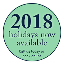Book your 2018 holiday today!