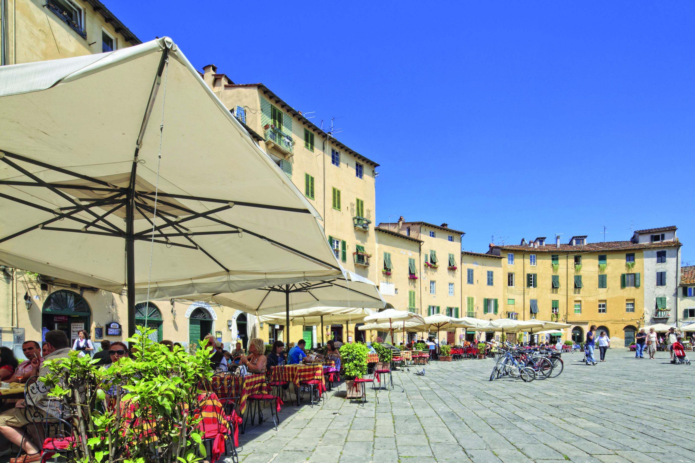 Italy, Tuscany, Lucca district, Lucca, Mediterranean area, Piazza dell'Anfiteatro