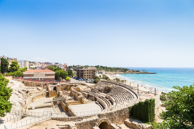 The Historical amphiteather of Tarragona.