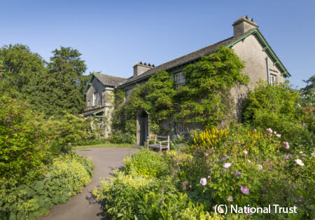 A view of Hill Top, Cumbria, home of Beatrix Potter.