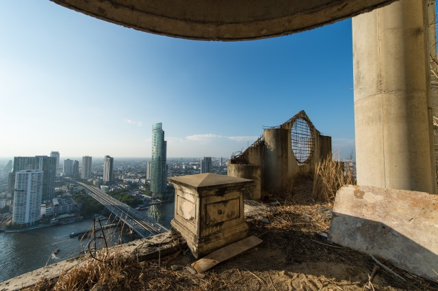 Bangkok view from abandon tower