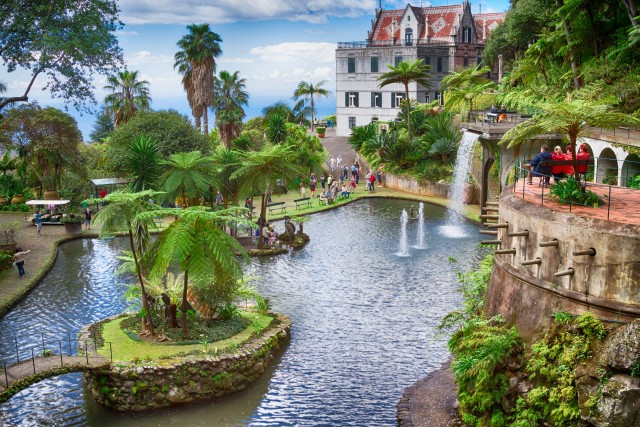 Tropical Garden Monte Palace. Funchal, Madeira Island, Portugal