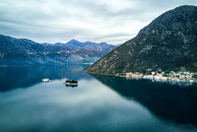 Perast and its two islets