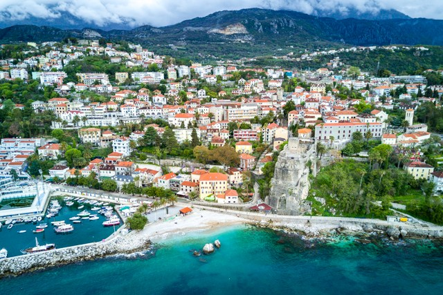 A bird's eye view of Herceg Novi