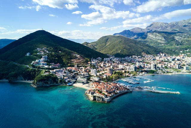 A bird's eye view of Budva
