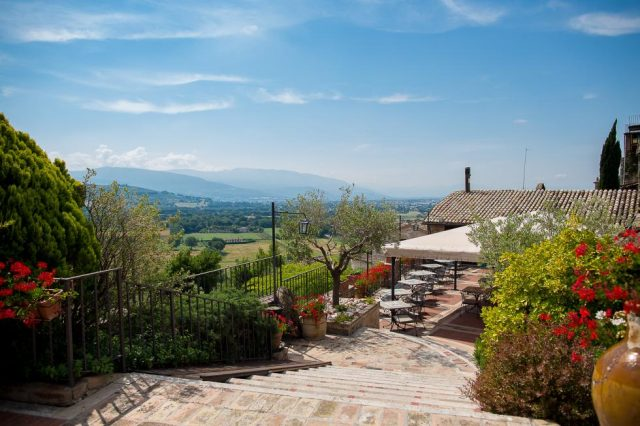 Views from La Bastiglia Hotel, Umbria