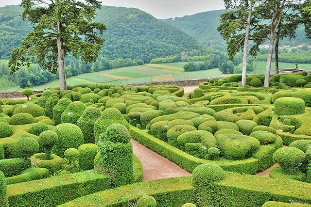 France, the picturesque garden of Marqueyssac in Dordogne