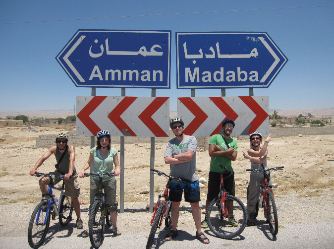 Group of Cyclists on Jordan Cycling Trip