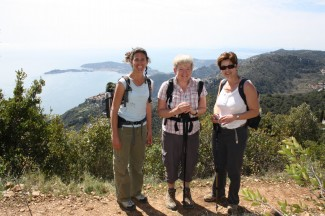 High above the shimmering Mediterranean - French Riviera Walking