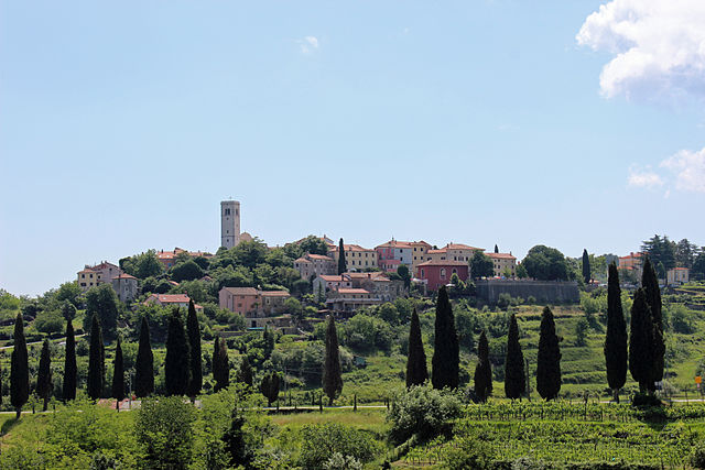 Oprtalj, Istria, distant view