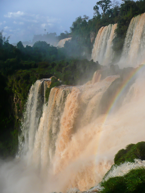 Using composition to remove the walkways and tourists the surround Iguassu Falls, Brazil
