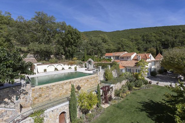 David and Victoria Beckham's million-pound mansion in Provence, France.