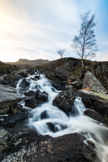 A mountain stream in the Ogwen Valley, North Wales
