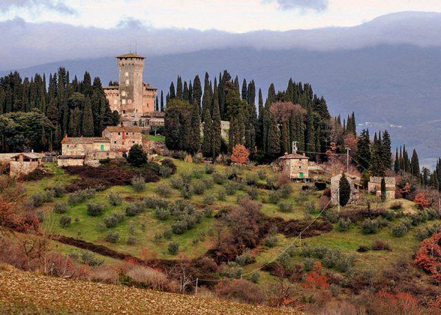 Castle in Chianti region of Tuscany