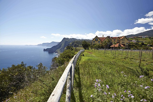 View of the Quinta do Furao on the Madeira coast