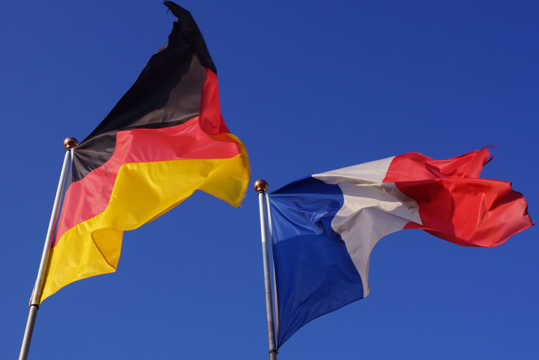 french-german-flags
