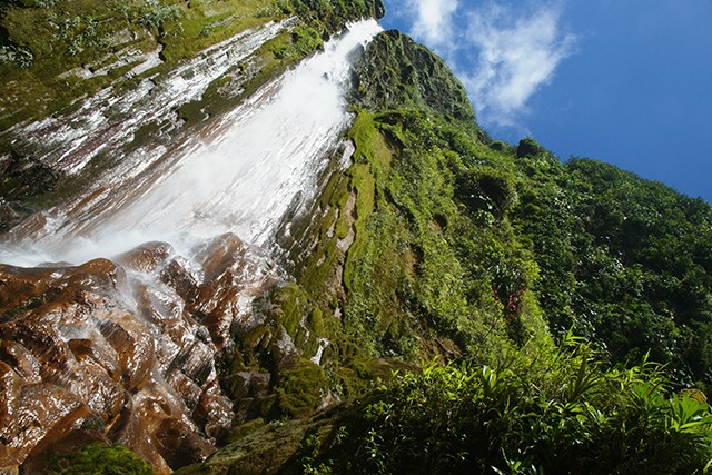French Caribbean On Day 4 of our Walking in the French Caribbean holiday you'll explore the three cascading Carbet waterfalls of Basse-Terre. This stairway of gushing water descends from their source on La Soufrière volcano.