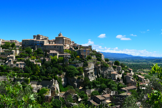 The hilltop village of Gordes.