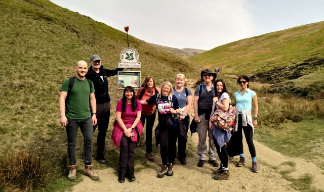 Headwater Team on the Kinder Walk