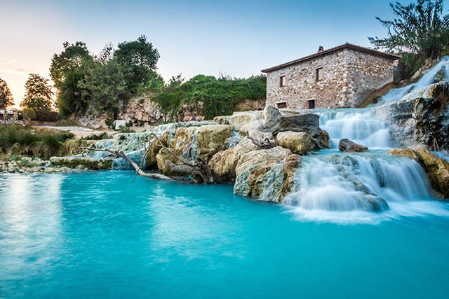Italy On Day 4 of our Connoisseurs' Tuscany Walk, you'll head through holm oaks and wild olive trees to the stunning waterfall at Lake Pellicone – look out for kingfishers at the water's edge.