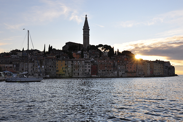 Rovinji Old Town from the Ocean. Photo: Sarah Sampsel / Flickr