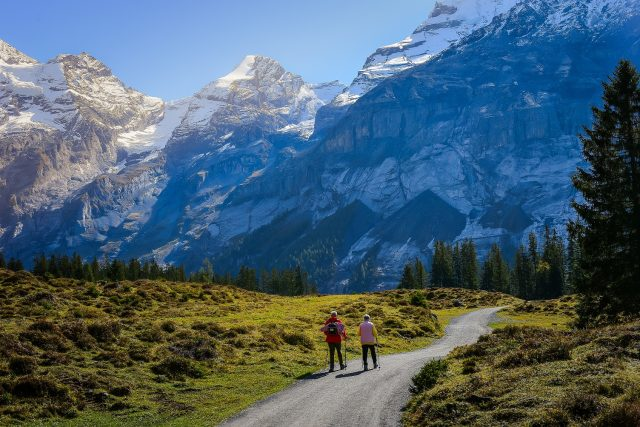 Hiking near Kanderstag, Swiss Alps