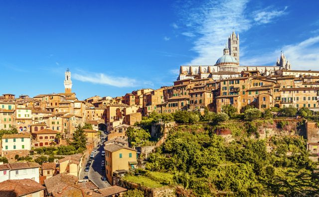 The beautiful city of Siena