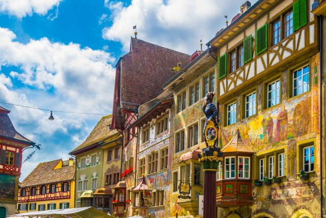 Colorful houses in Stein am Rhein
