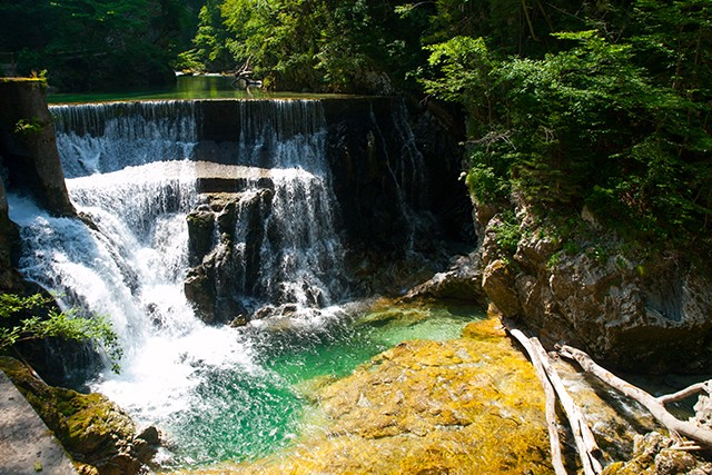 Slovenia On Day 5 of our Julian Alps to the Adriatic Cycling holiday you'll cycle past a selection of small waterfalls as you wind down through cheery mountain communities – often criss-crossing the river below.