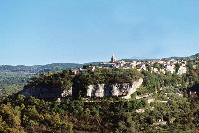 The Village of Venasque in Provence, France.